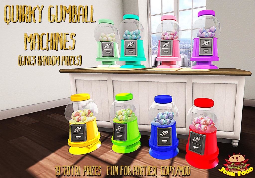 Junk Food - Quirky Gumball Machines - TeleportHub.com Live!