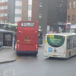 Buses on Trinity Street, Coventry - Stagecoach - X17 and National Express Coventry - 23A
