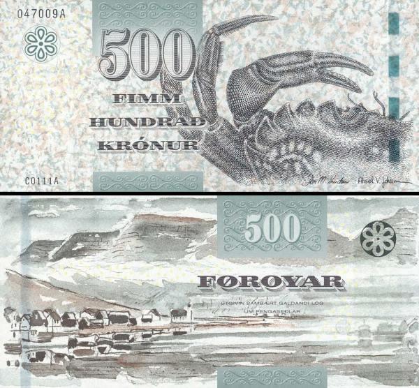 500 faerských  korún Faerské ostrovy 2011, P32