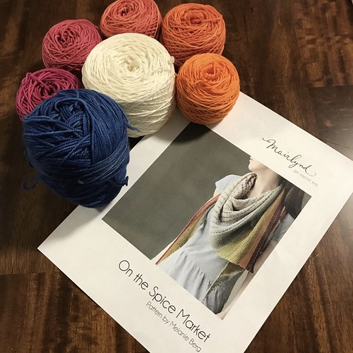 I've caked my yarn for Melanie Berg's On the Spice Market