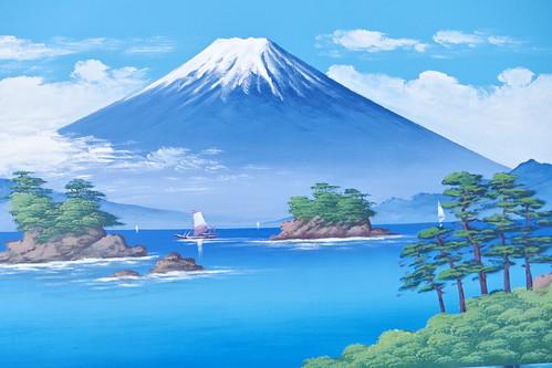 Mt.Fuji public bath landscape live painting 41