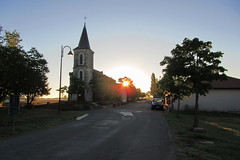 20120916 19 055 Jakobus Giscaro Sonnenaufgang Kirche Turm - Photo of Castillon-Savès