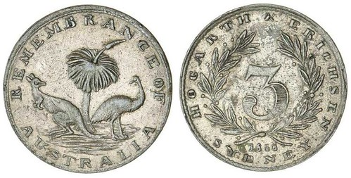 1860 Hogarth and Erichsen Silver Threepence