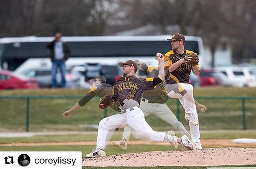 Baseball is in the air today! ⚾️ Shout out to student photographer Corey Lissy for this amazing shot of Valpo baseball pitcher Michael Mommersteeg! #GoValpo #Repost @coreylissy ・・・ The result of trying to learn cool things... #baseball #pitcher #p