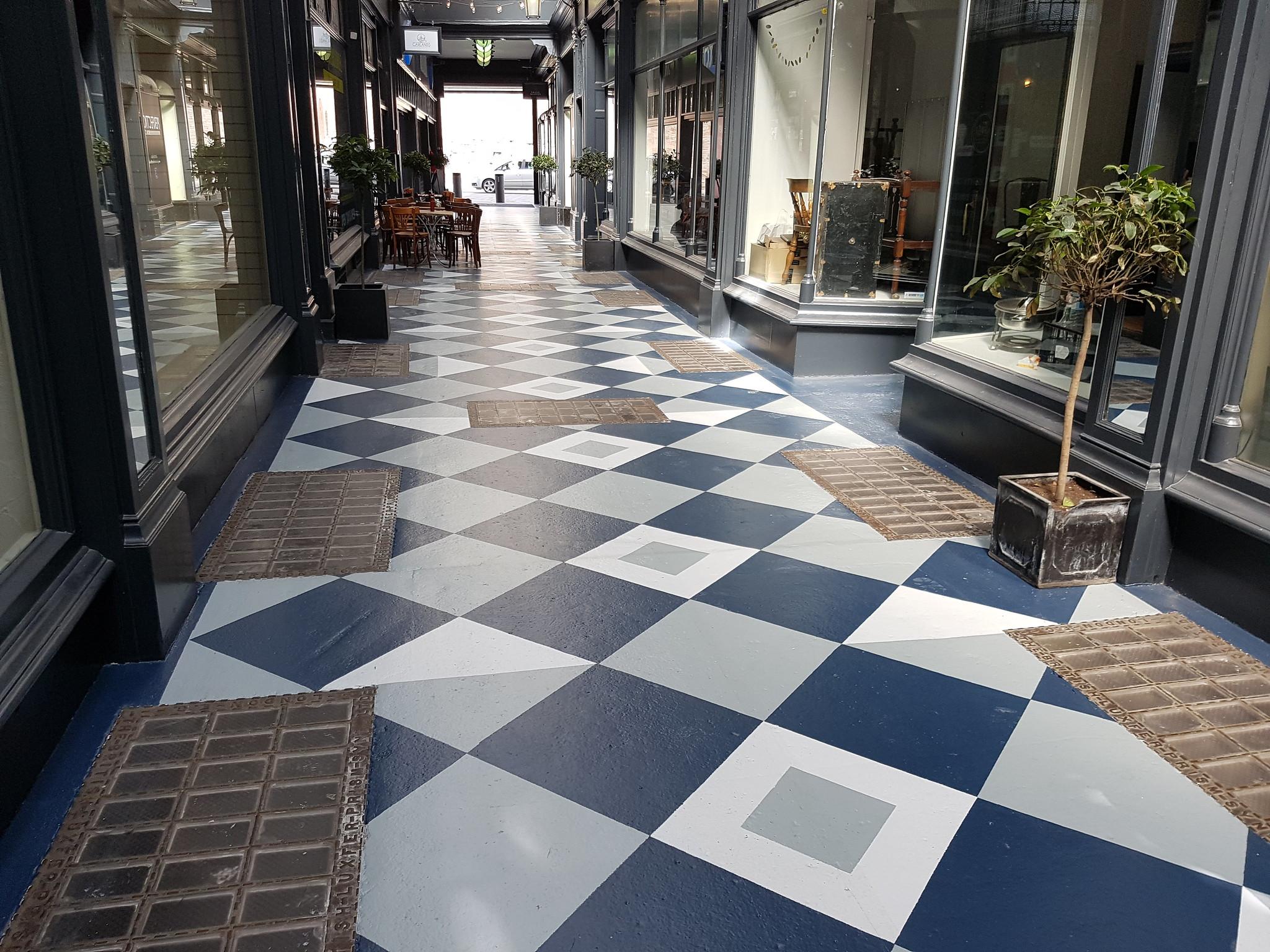 Kera Duke Street arcade floor, Cardiff