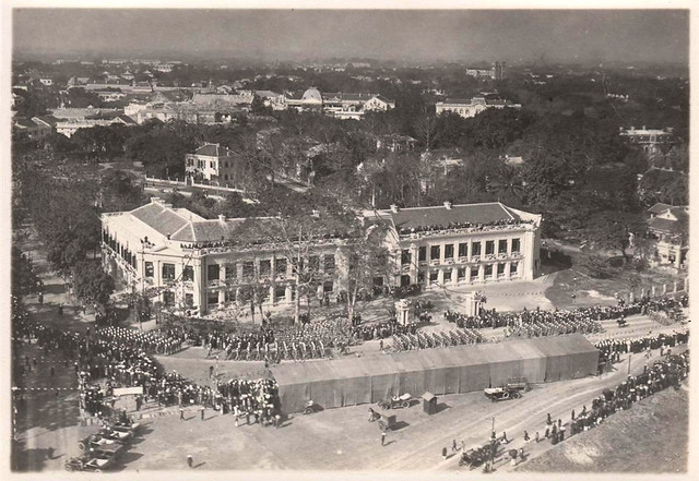Photo:1922 LA PARADE DU MARÉCHAL JOFFRE EN VISITE OFFICIELLE À HANOÏ (Janvier 1922). By manhhai