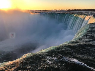 Sunrise at Niagara Falls