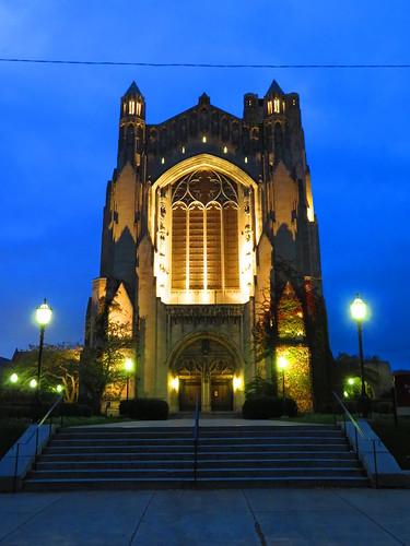 Rockefeller Memorial Chapel at Twilight