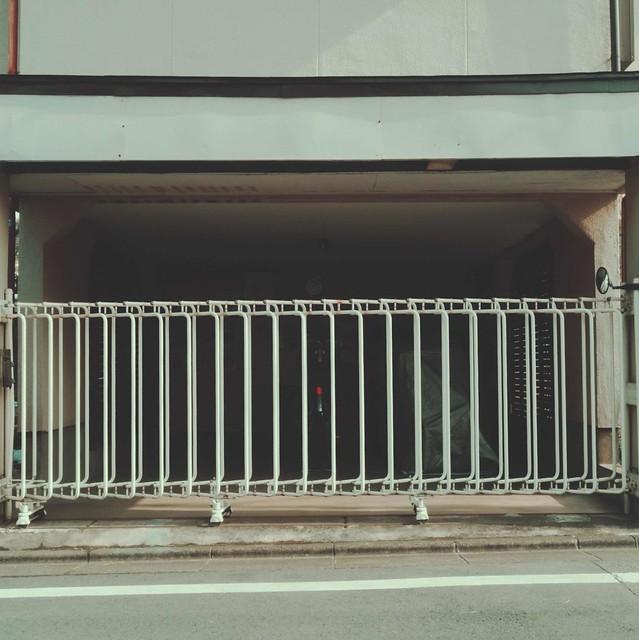 White sliding fence