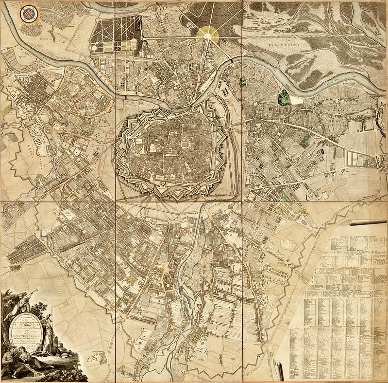 Hieronimus Benedicti & Maximilian von Grimm - Plan de la Ville de Vienne et de Ses Fouxbourgs avec le Denombrement des Masions Fait en 1797