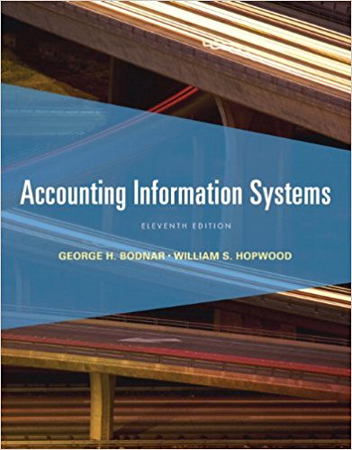 Instructor's Manual & Test Bank For Accounting Information Systems 11th Edition Product details : by George H. Bodnar