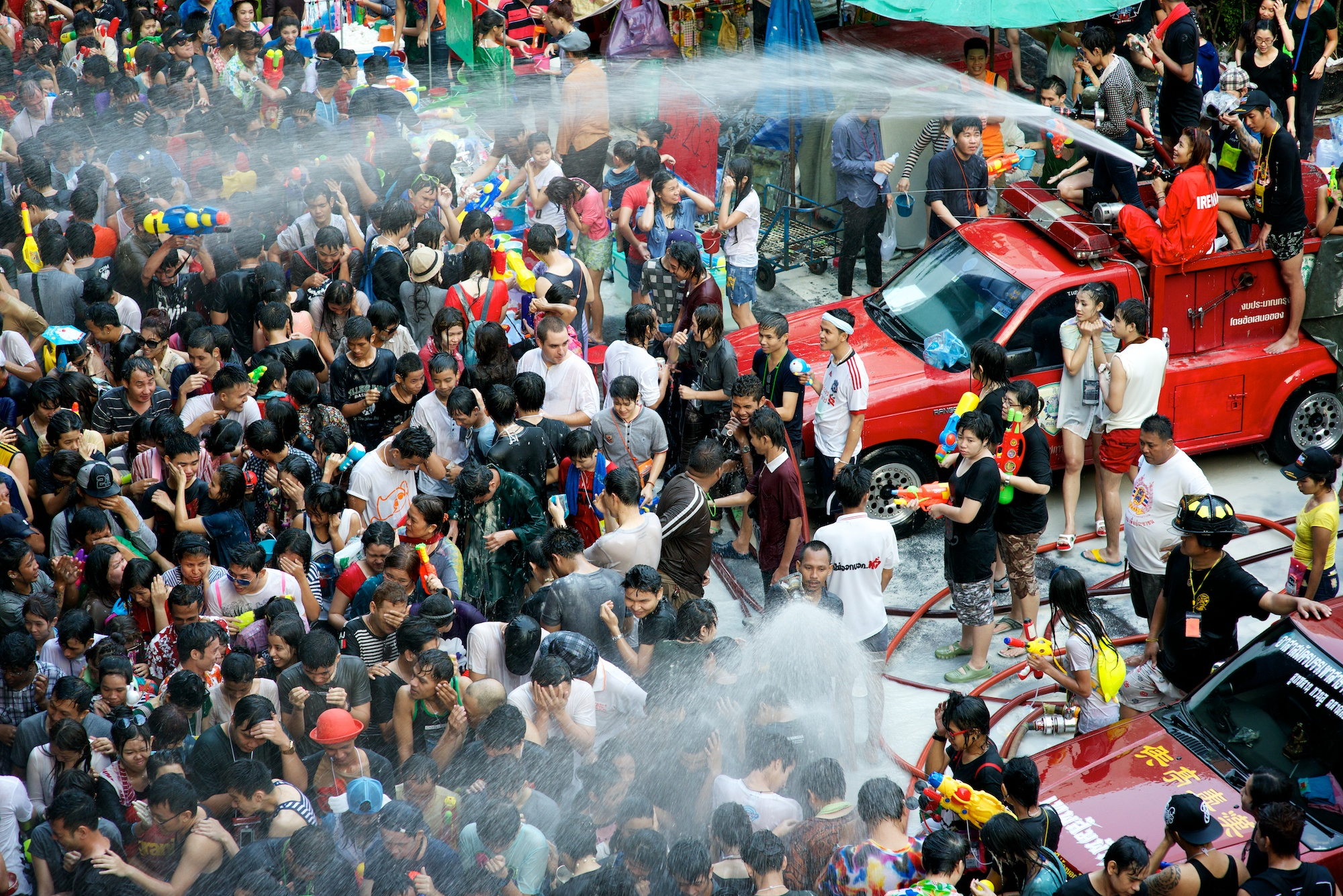 Songkran Festival (Thai New Year). Photo taken on April 14, 2013.