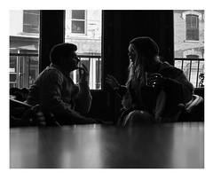 bar conversation (b & w)