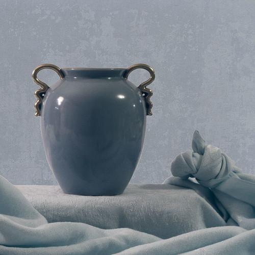 Blue Vase And Damask