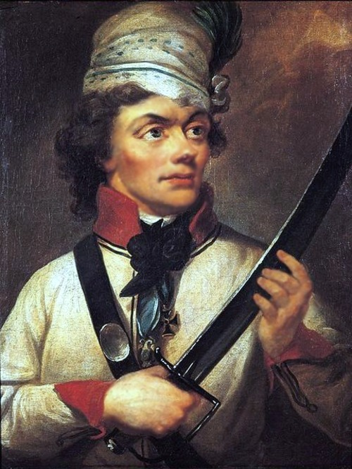 Portrait of Tadeusz Kościuszko, member of the Wasow Cadet Corps' first class and its most famous alumnus