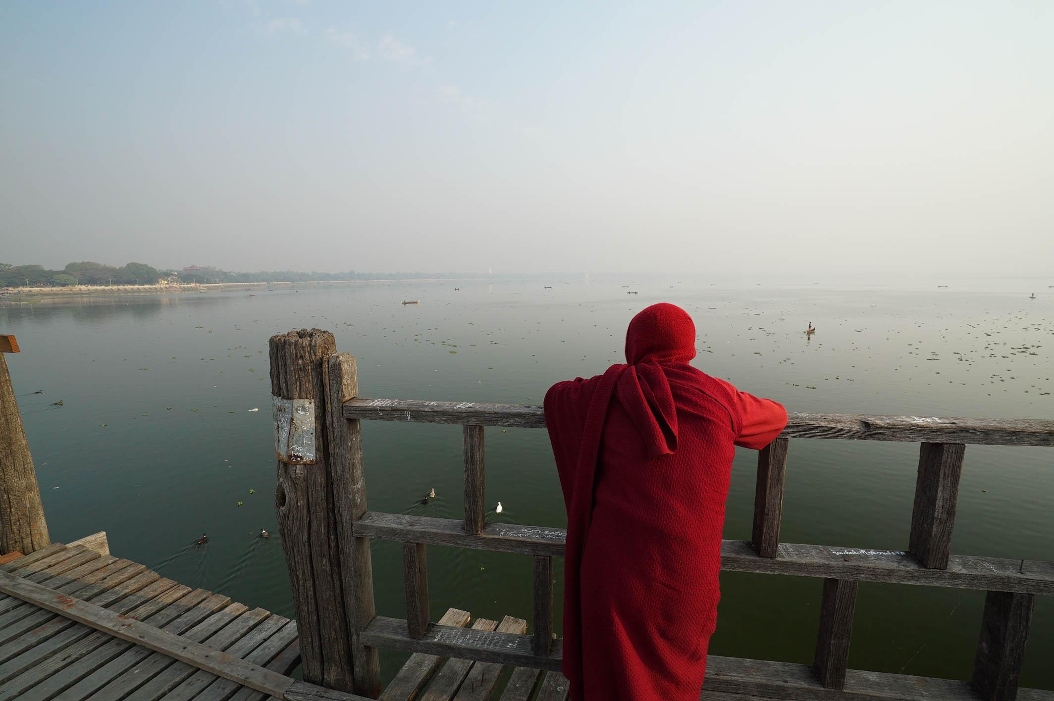 SUNRISE AT U BEIN BRIDGE   MYANMAR