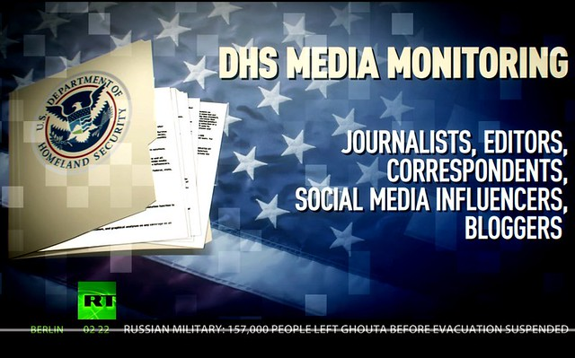 US Homeland Security Wants to Track Journalists Worldwide