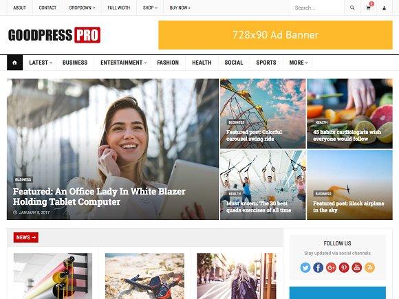 GoodPress pro v1.1 - WordPress Magazine Theme
