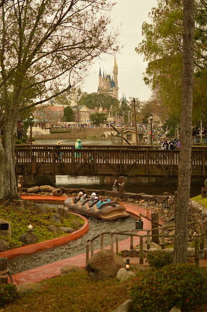 Splash Mountain & Cinderella's Castle