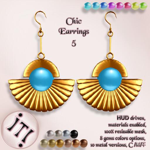 !IT! - Chic Earrings 5 Image - TeleportHub.com Live!