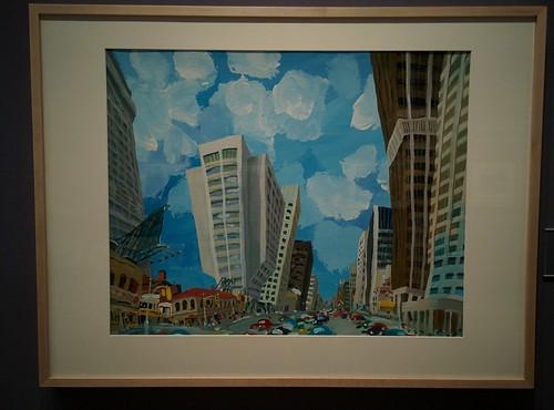 Bloor Street West, 1976 #toronto #tdgallery #carlosmarchiori #bloorstreet #bloorstreetwest  #painting #torontorevealed #torontoreferencelibrary #latergram