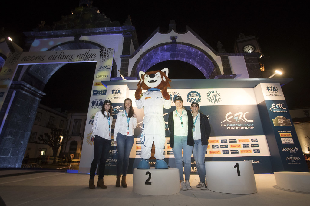 PERCY ambiance Podium, during the 2018 European Rally Championship ERC Azores rally,  from March 22 to 24, at Ponta Delgada Portugal - Photo Gregory Lenormand / DPPI