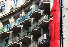 coca cola on the balcony