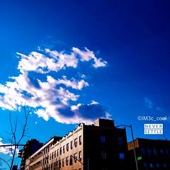 Le ciel blue