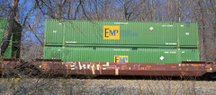 BNSF Container Car 253029 -- Norfolk Southern Freight Line at Thoroughfare Gap (VA) Westbound March 2018