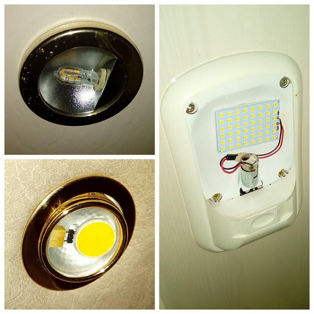 remplacement des ampoules à filament par des ampoules à Leds