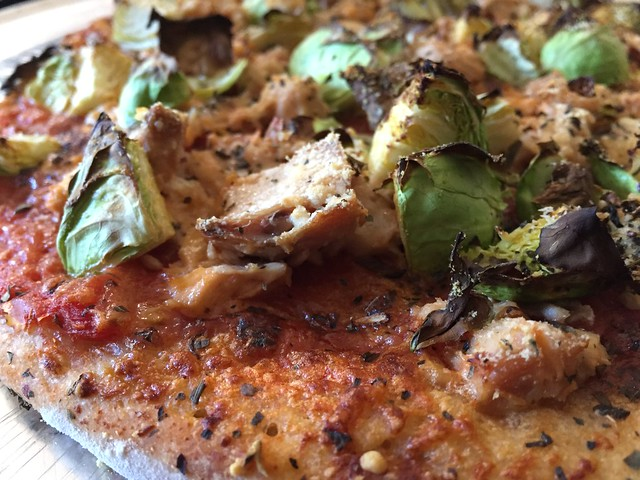 Tuna / Brussels Sprouts Pizza
