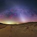 Zodiacal Light Pierces the Winter Milky Way at Kelso Dunes by TransientAstronomer