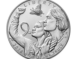2018 Breast Cancer Awareness coin obverse