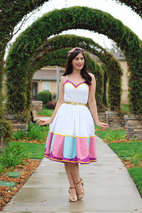 Vintage Inspired by Jackie Atomic Jax Mrs. Potts Inspired Disney Bound Dress