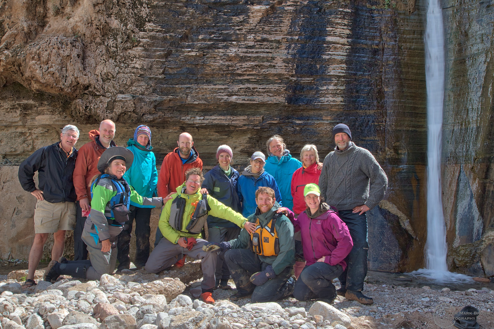 Group at Columbine Falls