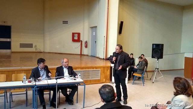 Ο Υφυπουργός Παιδείας Δημήτρης Μπαξεβανάκης στα ΕΠΑΛ της Σταυρούπολης