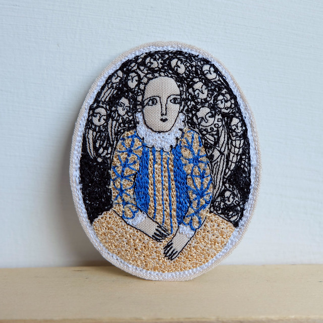 larger embroidery brooch