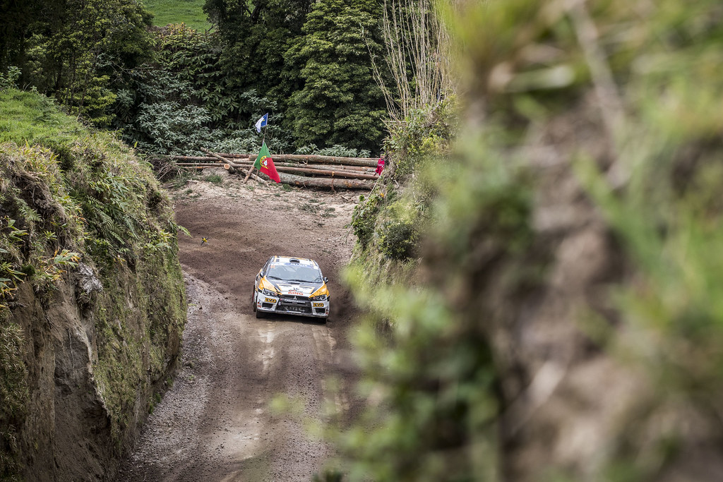 40 ALONSO Juan Carlo (arg), MONASTEROLO Juan Pablo (arg), MITSUBISHI LANCER EVO X, action during the 2018 European Rally Championship ERC Azores rally,  from March 22 to 24, at Ponta Delgada Portugal - Photo Gregory Lenormand / DPPI