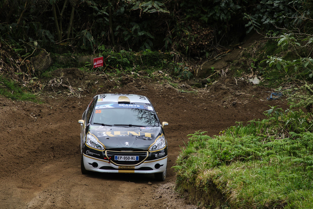 55 RODRIGUES Ruben (prt), RODRIGUES Estevao (prt) Peugeot 208 R2, action during the 2018 European Rally Championship ERC Azores rally,  from March 22 to 24, at Ponta Delgada Portugal - Photo Jorge Cunha / DPPI