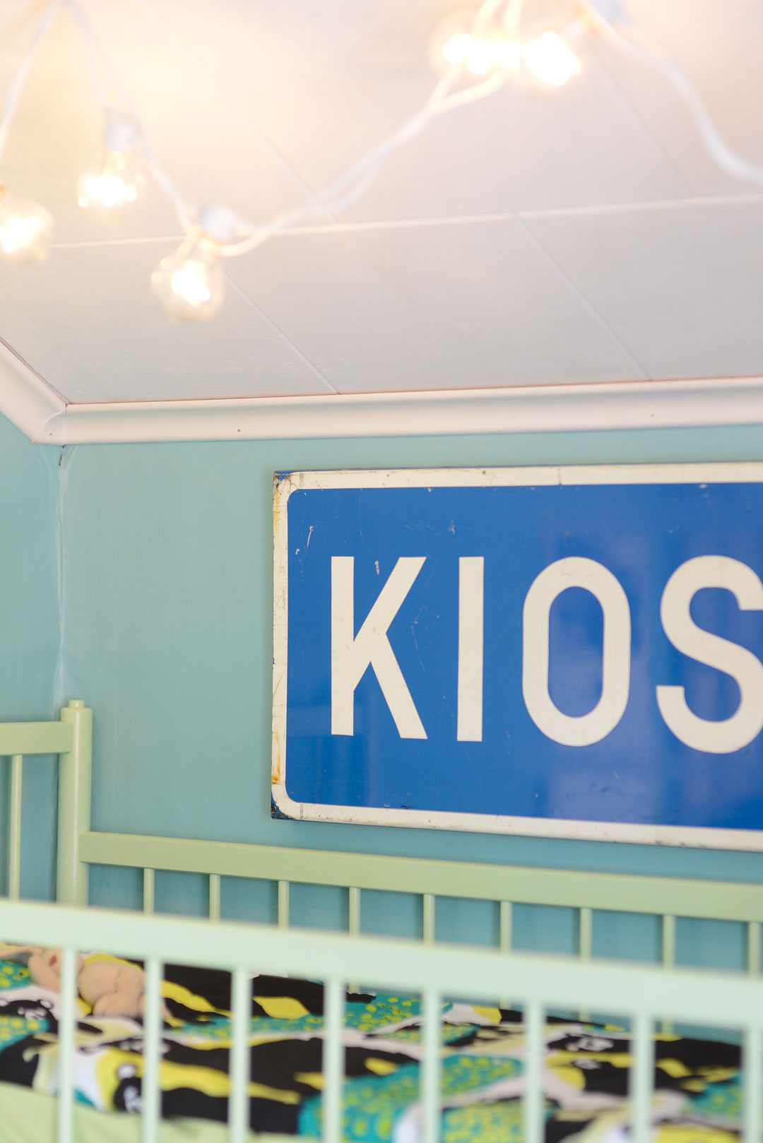 Kioski traffic sign in kids room