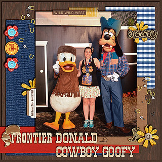 Frontier Donald and Cowboy Goofy