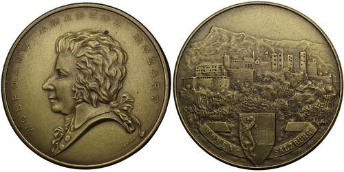 Mozart brass box Medal