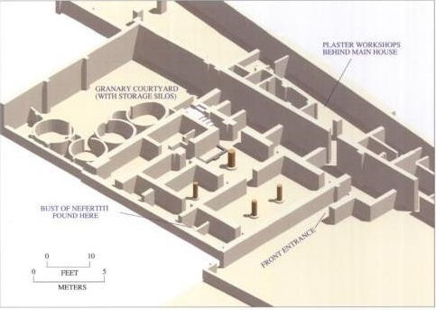 Thutmose's workshop in Amarna, Egypt.