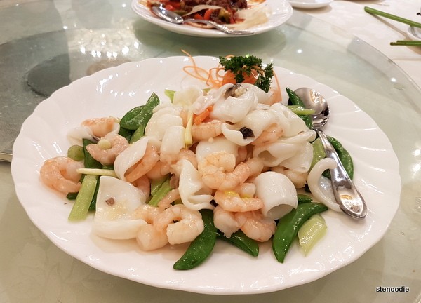 Shrimp and Calamari with Vegetables