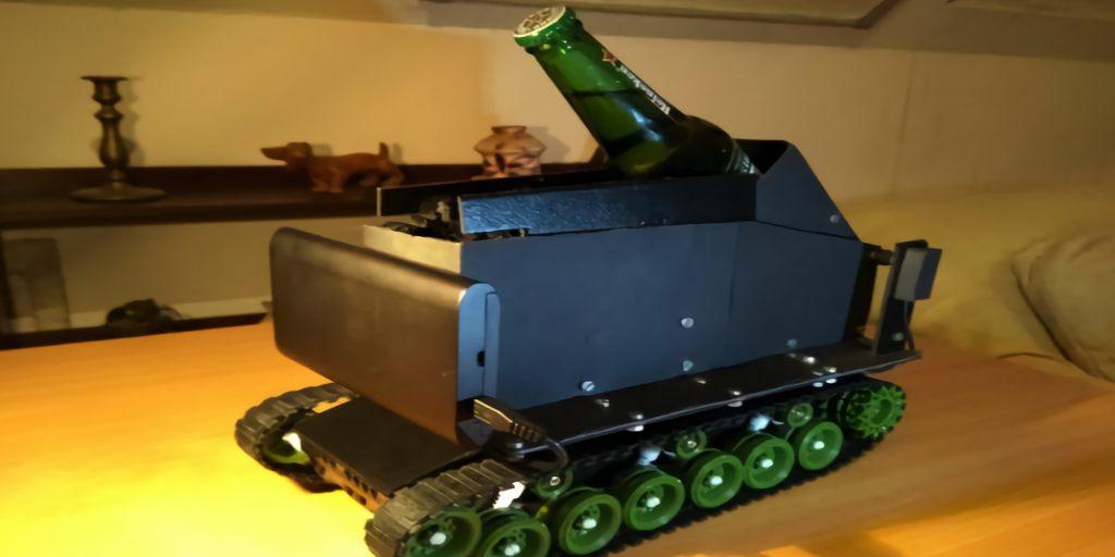Un véhicule robotique vous suit partout pour vous apporter votre bière préférée