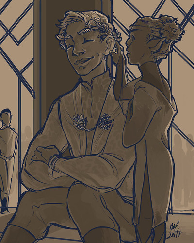kirk at the ball. Artist Melissa Cordes