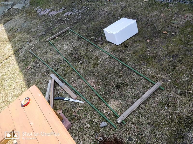 DIY小型ビニールハウス (1)