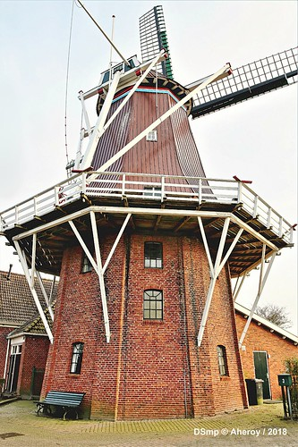 Windmill,Enumatil,Groningen  ,the Netherlands,Europe