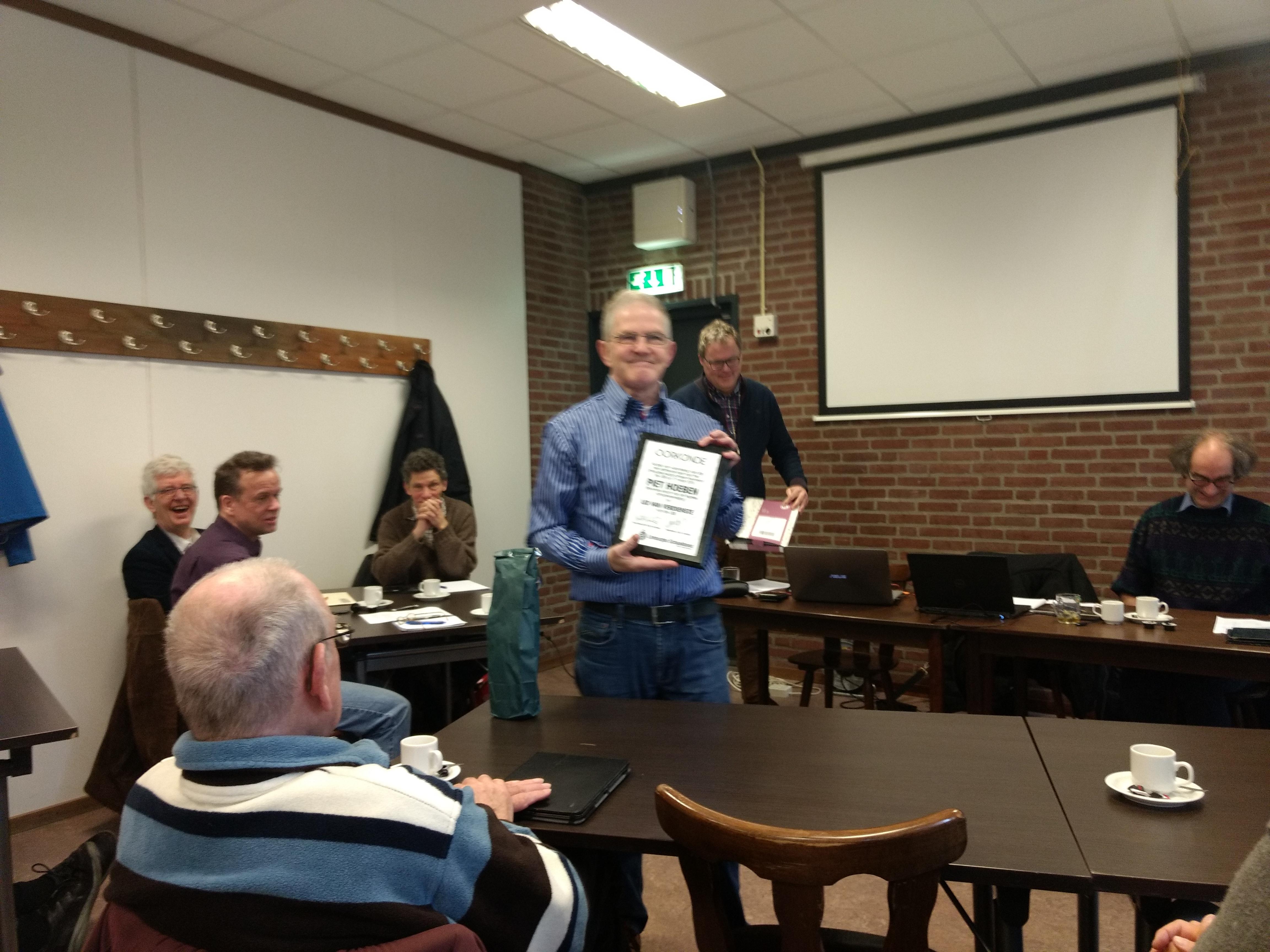 2018 Piet Hoeben benoemd tot Lid van Verdienste