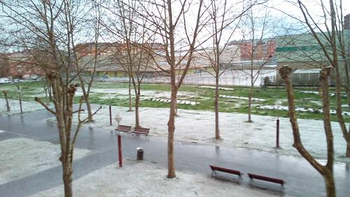 Granizada en Gasteiz